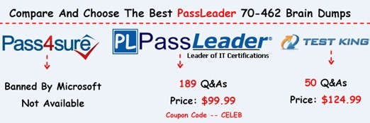PassLeader 70-462 Brain Dumps[25]